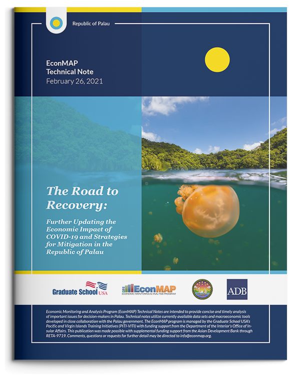 Related Document thumbnail of The Road to Recovery: Further Updating the Economic Impact of COVID-19 and Strategies for Mitigation in the Republic of Palau